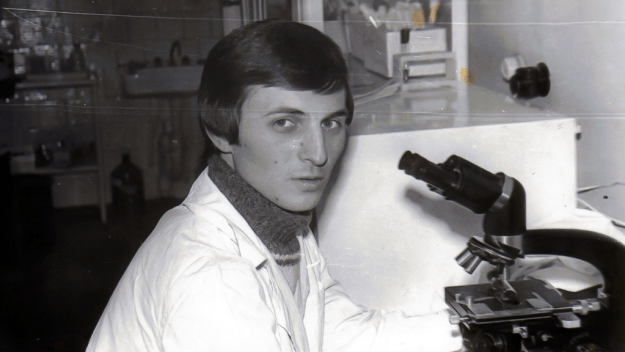 A young Novitsky at work in the Ukraine
