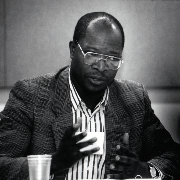 Dr. Oscar Kashala at an AIDS meeting in the early 1990s
