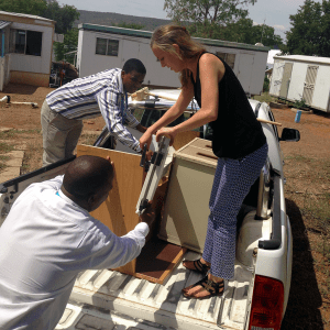 To keep costs down, Morgan Packer and colleagues transfer furniture between clinics.