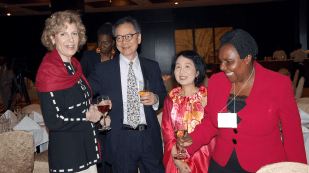 Susan Blutler Plum, Dr. Lee Chin, Dr. Lilian Cheung and Sebalda Leshabari, Muhimbili University of Health and Allied Sciences
