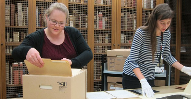 Archivists at the Center for the History of Medicine
