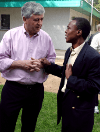 Prof. Max Essex and Dr. Joseph Makhema