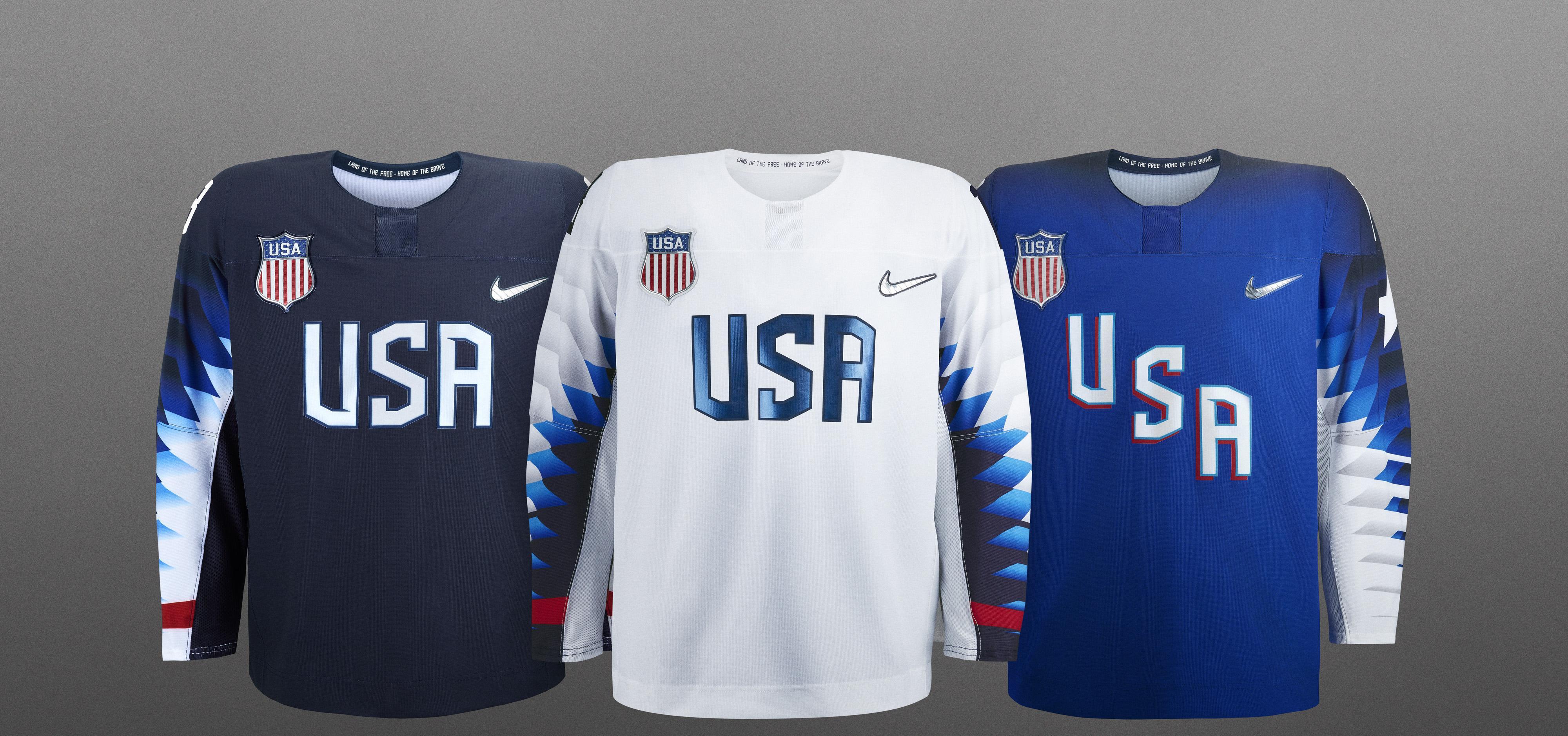 Usa Hockey Unveils Olympic Jerseys