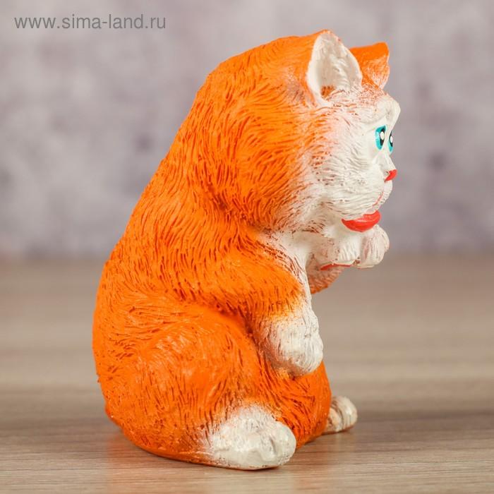 """Сувенир """"Кот лижет левую лапу"""" рыжий, 6х6х8см (2881069 ..."""