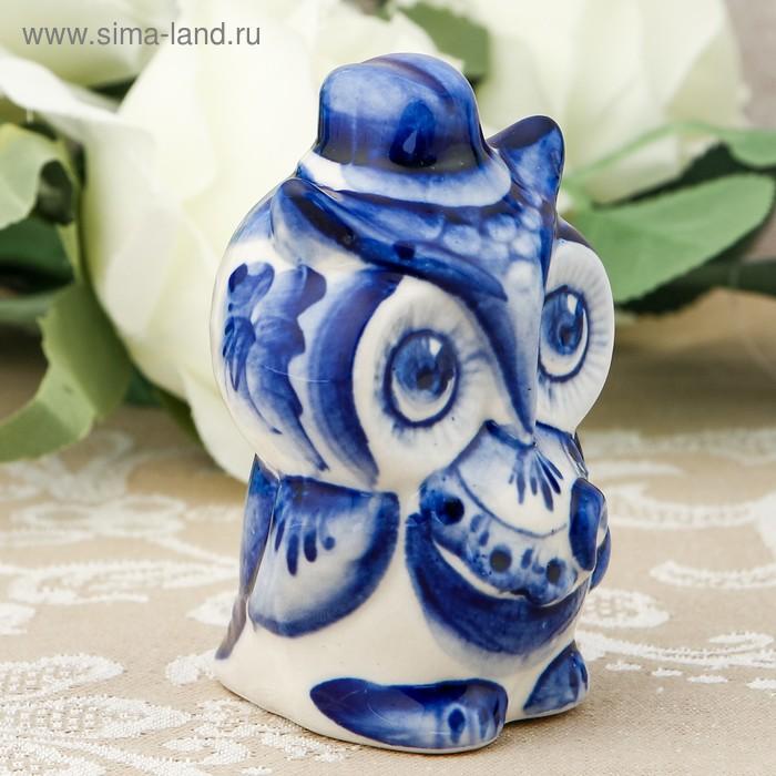 Сувенир «Сова с зонтиком», гжель кобальт (719262) - Купить ...