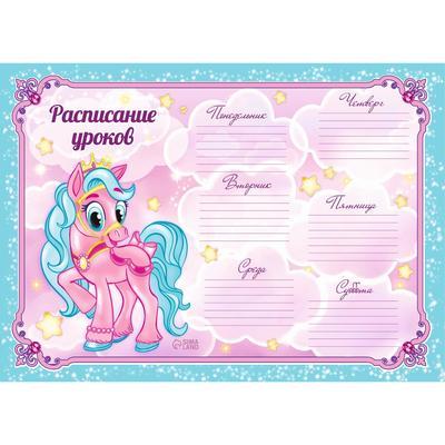 Расписание уроков А4 «Пони» — купить в городе Томск, цена ...