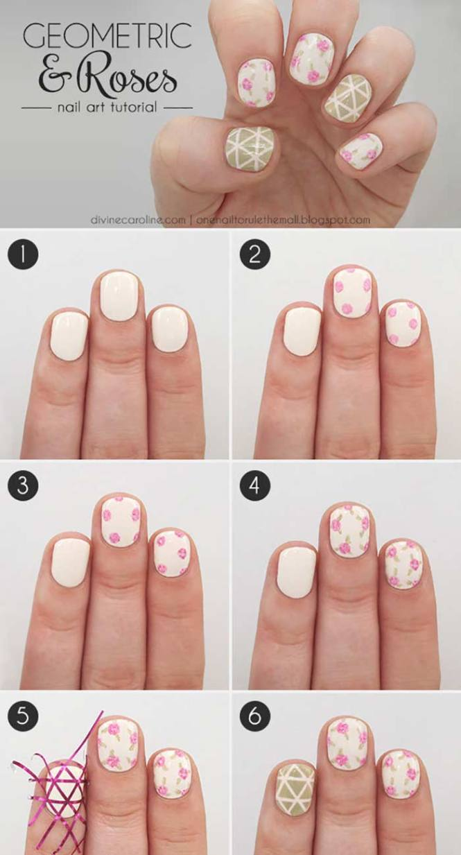Paint Splatter Nail Art Tutorial Simple Design For Short Nails Pinit