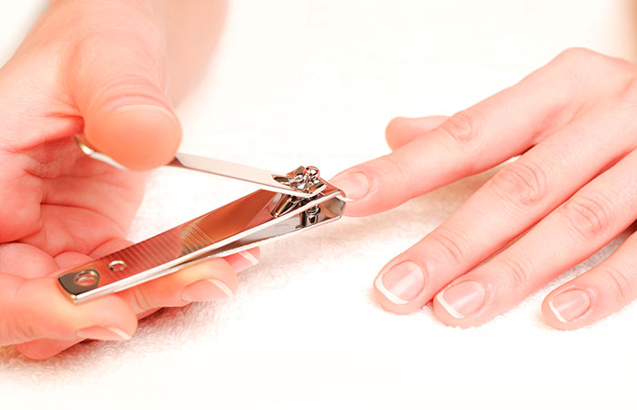 Step 2 Trim Nails How To Apply Acrylic