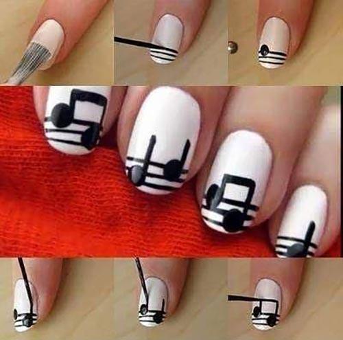 Al Notes Nail Art