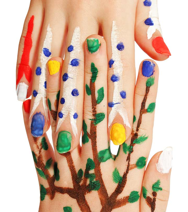 Eenvoudig Nail Art Design - Stap voor stap proces voor het creëren van grappige pop art