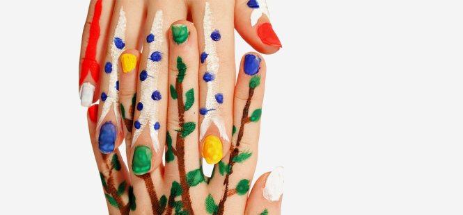 Water Marble Nail Art Tips In Hindi