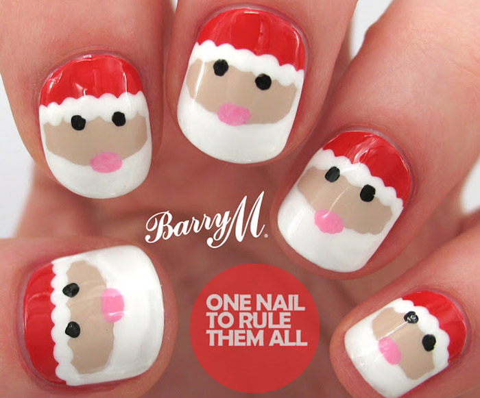 Christmas Nail Designs Santa Art