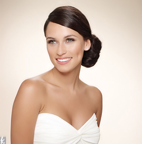 low hung side chignon wedding hairstyle