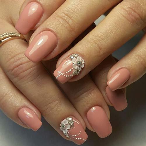 Most Beautiful 3d Nail Art Tutorials 4 Beige Nails