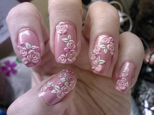 Cute 3d Nail Art Tutorials Rose Nails