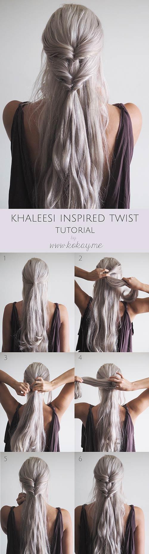 4. Khaleesi Inspired Twist