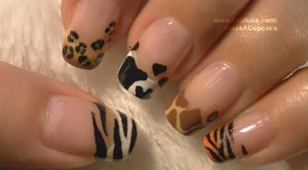 O Lovely Las Of The Nail World Today I Am Here To Share With You My Hopefully Easy Leopard Print Mani Step By