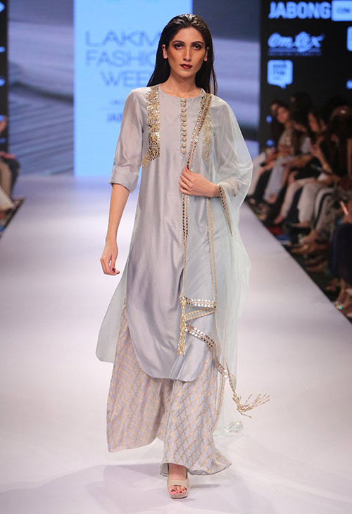Powder Blue Palazzo Salwar Dress
