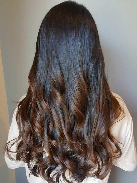 Hair Brown Color Ash Cool