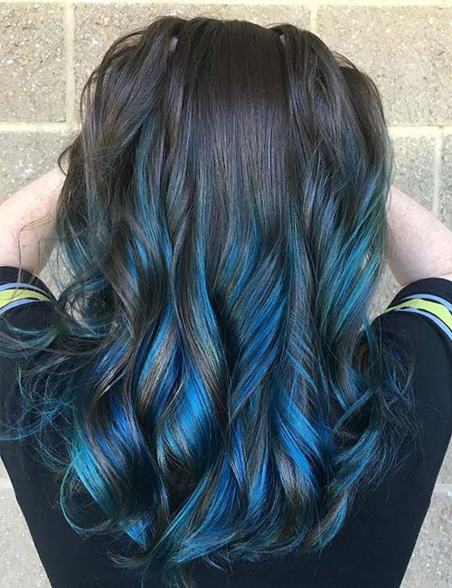Blue Lowlights In Brown Hair Decoratingspecial Com