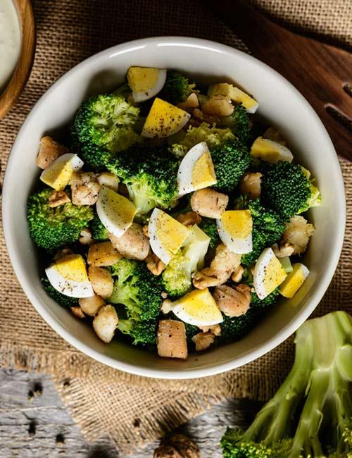 Broccoli, Eggs, And Tuna Salad