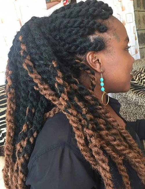 Jumbo Ponytail Twists