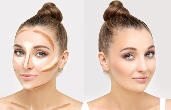 Use Light And Dark-Toned Foundation To Contour Your Cheeks