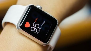 Wearable tech: Apple watch measuring heartrate