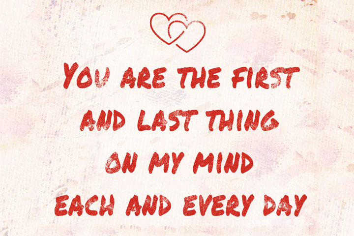 You Are Always My Mind Love Quotes