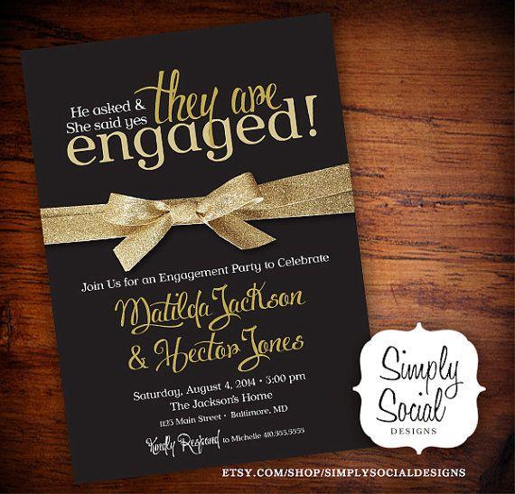 10 Engagement Invitation Cards Ideas