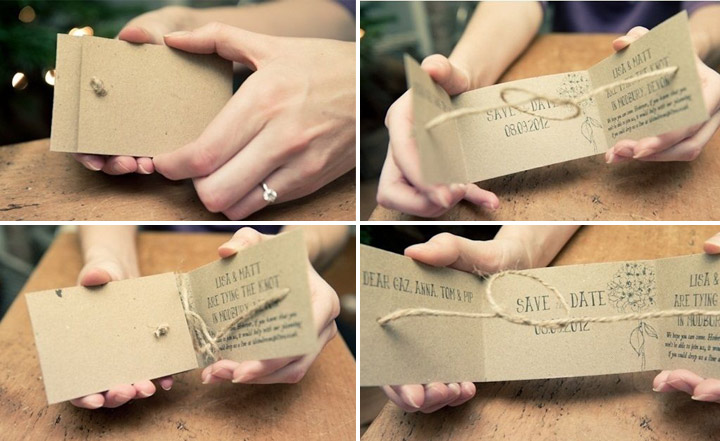The Natural Knot Wedding Invitation Cards