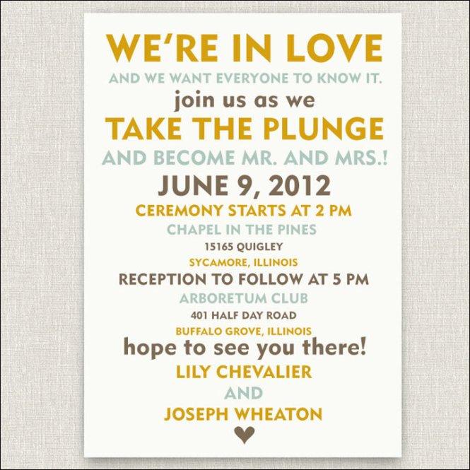 Elegant Informal Wedding Invitation Wording