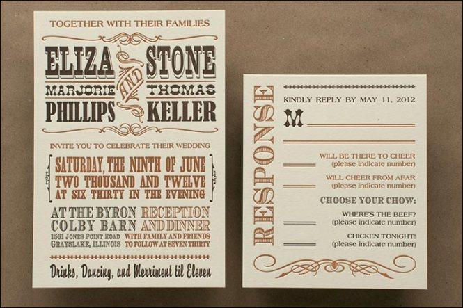 Wedding Invitation Funny Wording