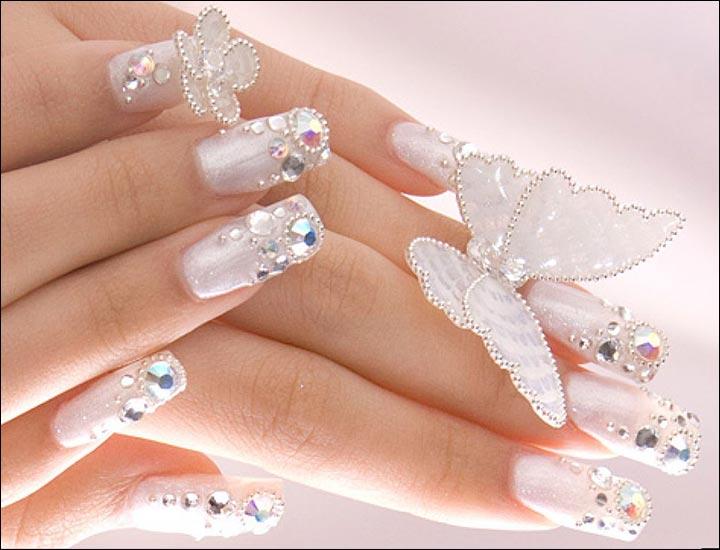 Erflies Bridal Nail Art