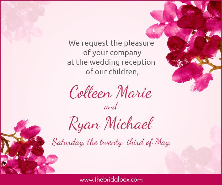 Wedding Invitation Wording 4