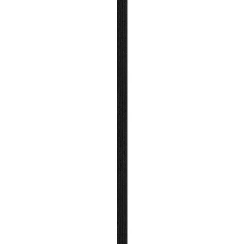 rouleau 50m d elastique tresse plate 6mm noir