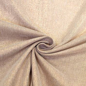tissu aspect lin paillete cuivre grande largeur tissu aspect lin paillete cuivre grande largeur