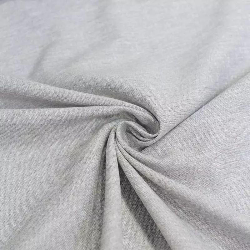voilage polycoton lin chine gris grande largeur