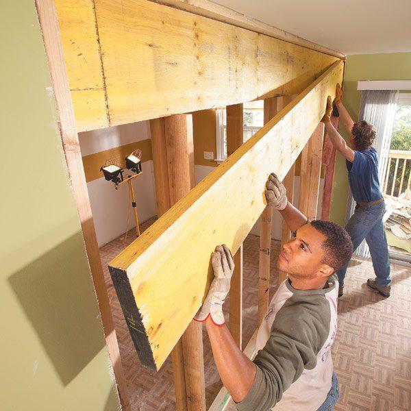 How To Install A Load Bearing Beam The Family Handyman