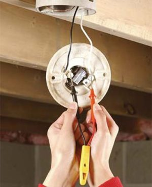 How to Replace A PullChain Light Fixture | The Family