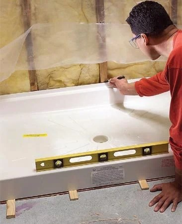 How To Fit A Shower Tray The Family Handyman