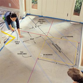how to install marble tile floor a