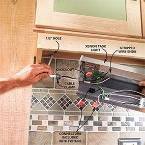 How to Install Under Cabi Lighting in Your Kitchen | The Family Handyman
