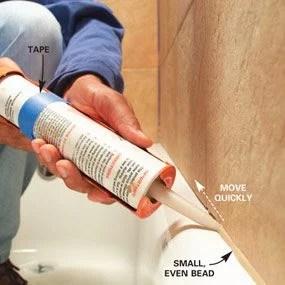 How To Caulk A Bathtub Tips The Family Handyman