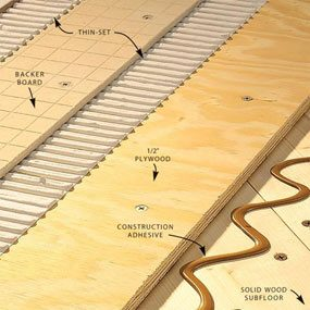 how to install tile backer board on a