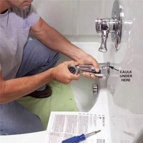 How To Install A Bathtub Install An Acrylic Tub And Tub