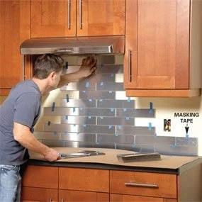 stainless steel kitchen backsplash diy