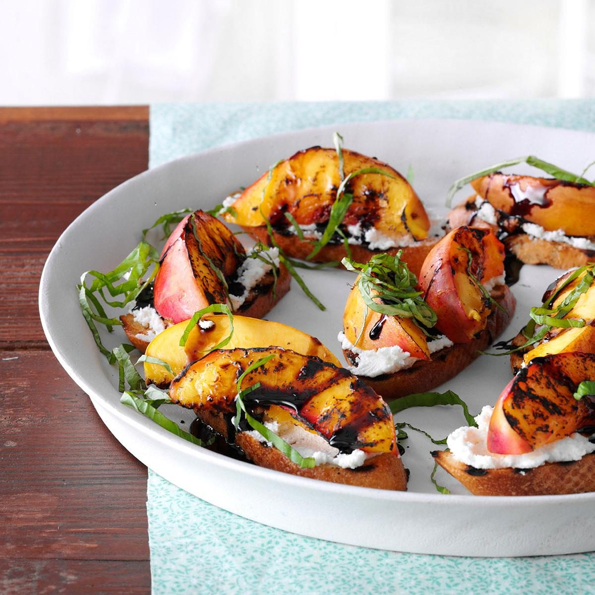 Grilled Nectarine Amp Cheese Crostini Recipe