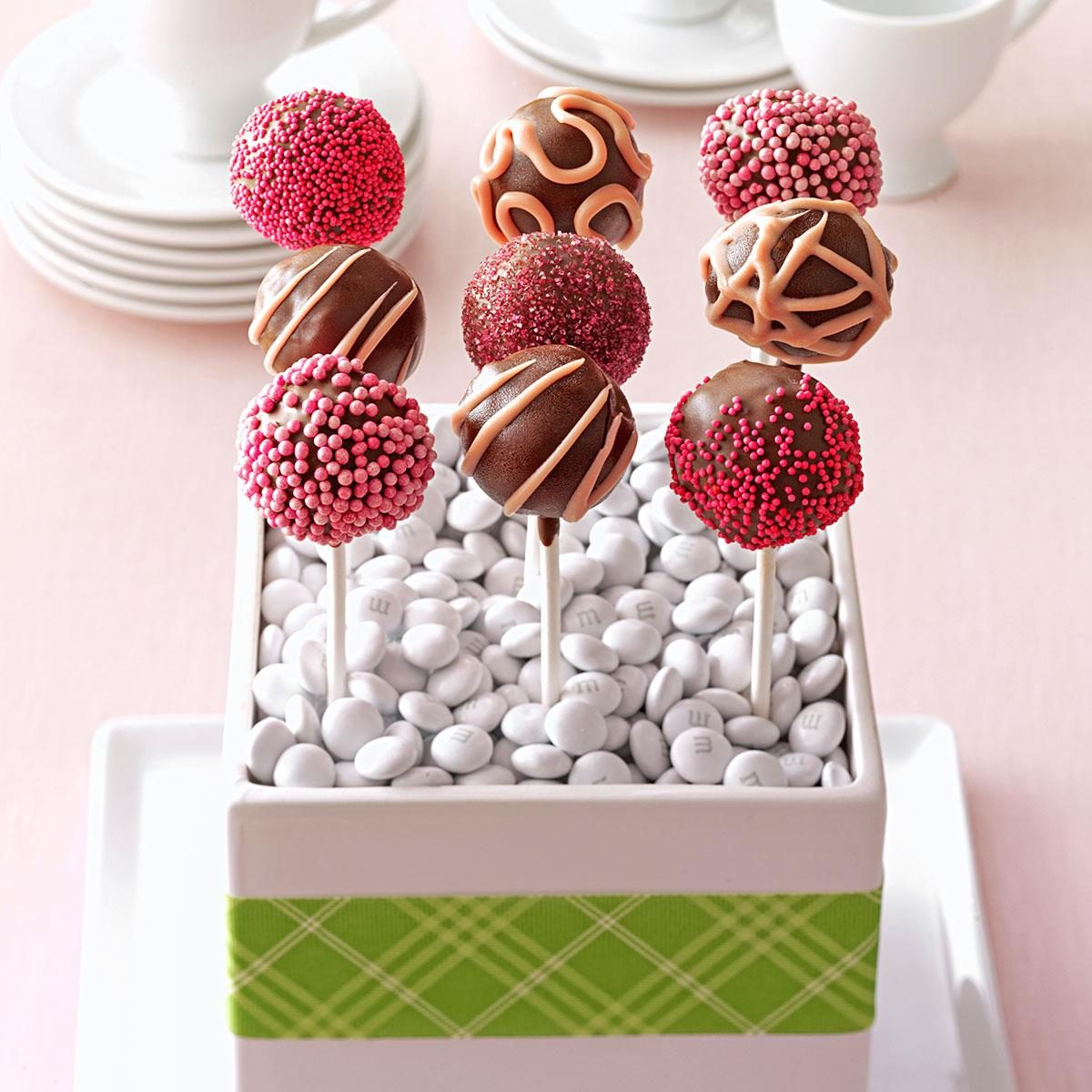 Raspberry Truffle Cake Pops Recipe