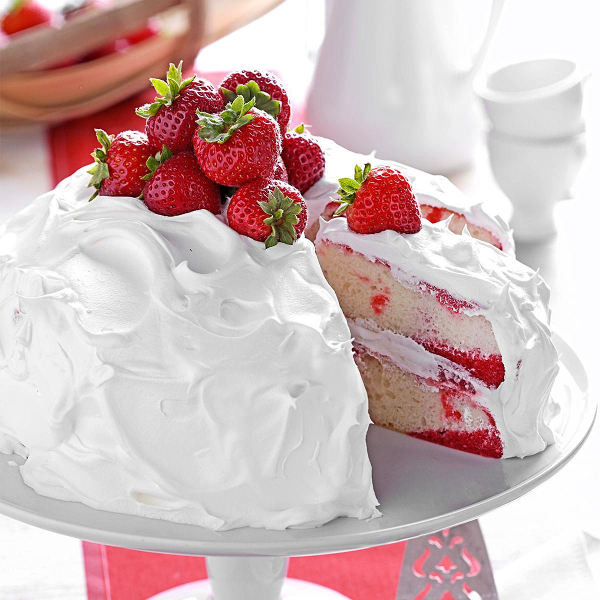 Strawberry Poke Cake Recipe Taste Of Home